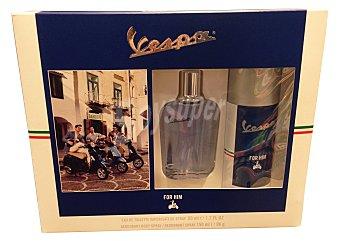 VESPA Lote hombre sensazion eau toilette vaporizador 30 ml + body spray 150 ml Vaporizador 30 ml + body spray 150