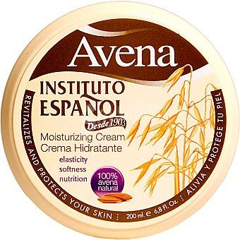 Instituto Español Crema corporal hidratante con avena Tarro 200 ml