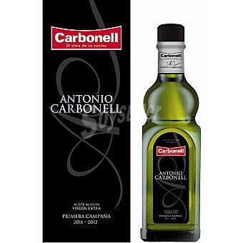ANTONIO CARBONEL Aceite de oliva virgen extra Primera Campaña 2011-2012 Botella 500 ml