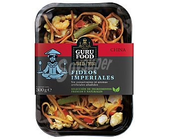 GURU FOOD Fideos chinos con pollo, gambas y verduras frescas 300 g