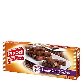 Waffers Barrita de galleta y chocolate sin gluten 130 g
