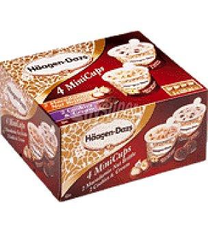 Haagen Dazs Minitarrinas sabor nueces de macadamia y dulce de leche Caja de 4 unidades