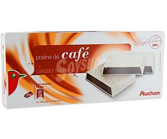 Auchan Turrón praliné de café 300 gramos