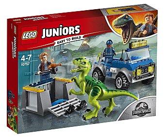 LEGO Juniors Jurassic World 10757 Juego de construcciones con 85 piezasCamión de rescate del Raptor, Juniors Jurassic World 10757 LEGO.