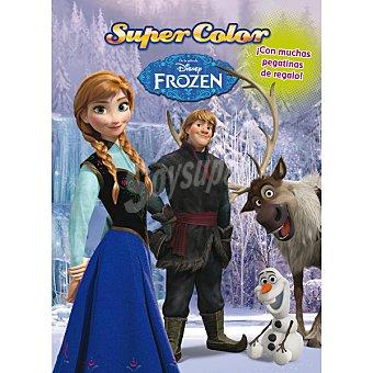 Disney Frozen. Supercolor. Libro para colorea con pegatinas de 1 Unidad