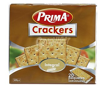 Prima Crackers integrales paquete 500 g Paquete 500 g