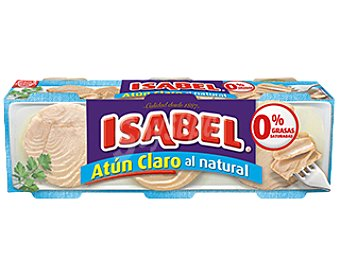 Isabel Atún claro al natural  3 latas de 56 g