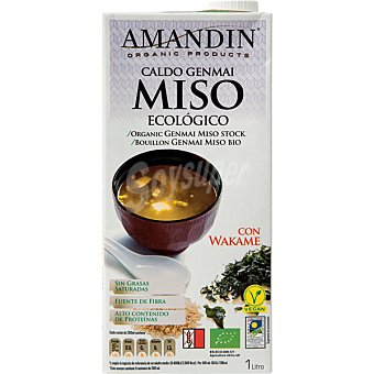 AMANDIN caldo genmai de miso con wakame envase 1 l