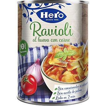 Hero Ravioli al huevo con carne Lata 430 g