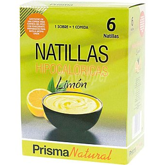 Prisma natural Natillas hipocalóricas sabor limón sustitutivas de 1 comida estuche 300 g 6 unidades