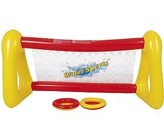 EURASPA Portería de futbol hinchable + 1 balón, medidas: 150x100 centímetros 1 unidad
