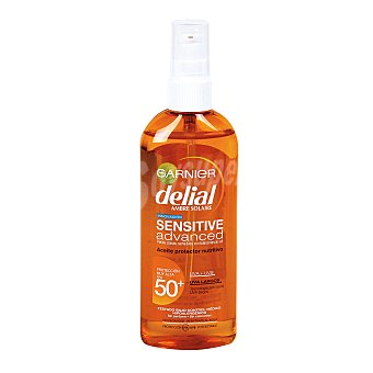 Delial Garnier Sensitive advanced aceite protector nutritivo spf 50 spray 150 ml