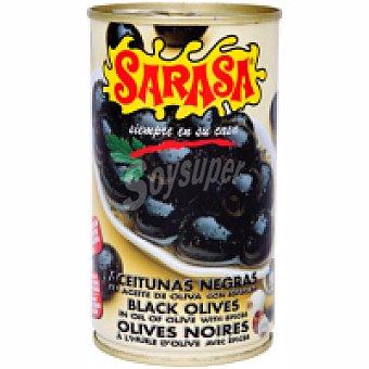 Sarasa Aceitunas negras con hueso natural Frasco 160 g