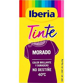 Iberia Tinte para ropa cambia el color morado caja 2 sobres