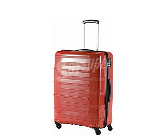 Itluggage Maleta de 78cm, con 4 ruedas y estructura rígida de ABS de color rojo, airport