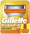 Recambio de maquinilla de afeitar Fusion 5 power Blíster 8 unidades Gillette Fusion