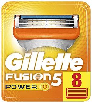 Gilette Cargador para afeitar xl Fusion 5 Power 8 ud 8 ud