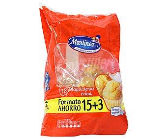 Martinez Magdalenas reina 15+3 unidades formato ahorro bolsa 615 g 15+3 unidades