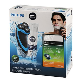 Philips Afeitadora aqua touch at750 philips