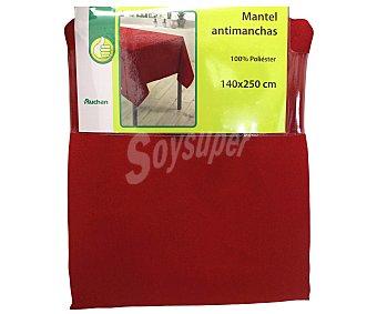 PRODUCTO ECONÓMICO ALCAMPO Mantel 100% poliéster, color rojo liso, 140x250 centímetros 1 Unidad