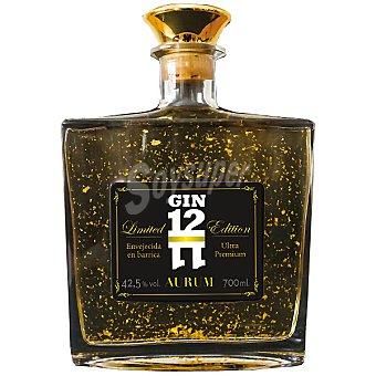 1211 Aurum Ginebra premium envejecida en barrica y con láminas de oro Botella 70 cl