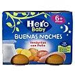 Tarritos de pollo con verduritas desde 6 meses 2 tarritos x 190g - 380 g Hero Baby Buenas Noches