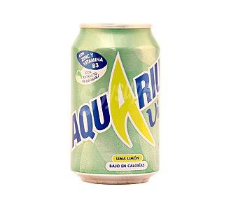 Aquarius Vive Bebida isotónica sabor lima limón bajo en calorías Lata 33 cl