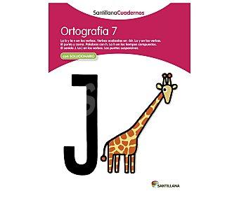 Santillana Libro de actividades Ortografía 7. Género: actividades, vacaciones, lenguaje. Editorial Santillana