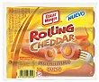 Rolling Cheddar salchichas cocidas y ahumadas de cerdo y pollo con queso Envase 215 g Oscar Mayer