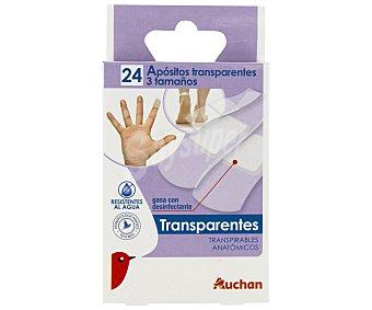 Auchan Apósito transparente 24 unidades