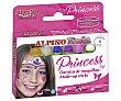 de maquillaje de 5g de colores, Princess alpino Estuche con 6 barritas Alpino