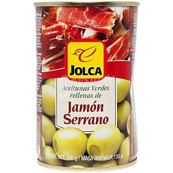 Jolca Aceitunas rellenas de jamón serrano lata 300 gr