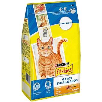 Friskies Purina Comida especial para gatos esterilizados 1,5 kg