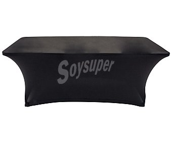 Funda elástica negra para mesa de resina de 180cm, newstorm.