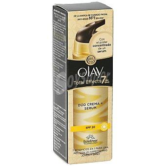 Olay Total effects 7 en 1 crema + serum antiedad dúo spf 20 caja 40 ml 20 caja 40 ml