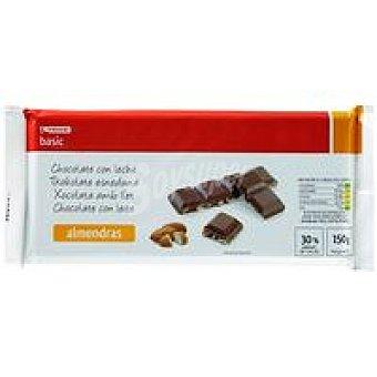 Eroski Basic Chocolate con leche y almendras 150 g