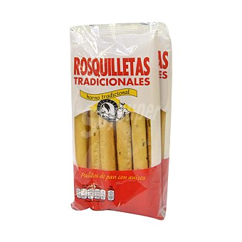 Rosquilletas tradicionales Palitos de pan con anises Pack de 2 unidades de 90 g