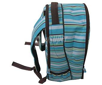 Auchan Bolso nevera tipo mochila con capacidad de 20 litros, asa, tiras para espalda y cierre de cremallera 1 unidad