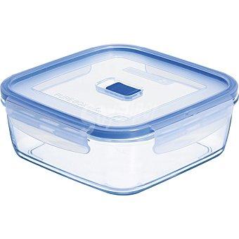 LUMINARC Pure Box Active hermetico cuadrado con tapa transparente y azul 122 cl 122 cl