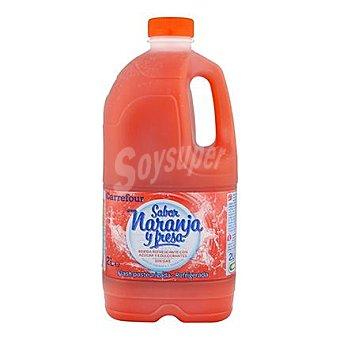 Carrefour Refresco naranja y fresa 2 l