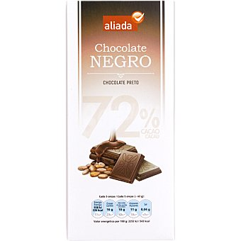 Aliada Chocolate negro 72% cacao Tableta 100 g