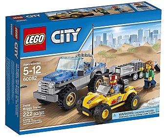 LEGO Juego de construcciones con 222 piezas, Remolque del Buggy de las arenas, serie City, modelo 60082 1 unidad