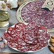 Salchichón ibérico de cebo plato loncheado 90 g SEÑORIO de OLIVENZA