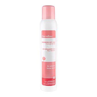 Carrefour Desodorante 24h para piel sensible sin alcohol 200 ml