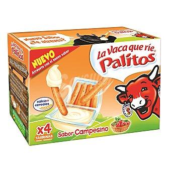 La Vaca que ríe Queso en crema con palitos sabor campesino 140 g