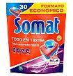 Detergente lavavajillas en pastillas para máquinas Todo en 1 30 uds Somat