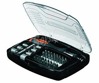 Black&Decker Estuche de destornillador con sistema de carraca con 40 puntas y vasos 1 unidad