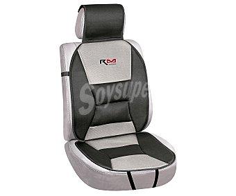 ROLMOVIL Respaldo universal con cabezal y refuerzo lumbar, de color negro y gris, modelo Confort 1 unidad