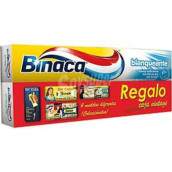 BINACA pasta dentífrica blanqueante + regalo de una lata vintage pack 2 tubo 75 ml