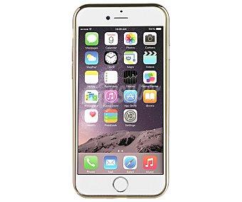 Muvit Funda trasera, dorado, compatible con iphone 7. (teléfono no incluido) 7 carcasa